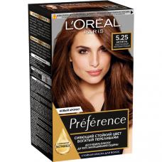 """L'Oreal Paris  (Лореаль) Стойкая краска для волос """"Preference"""" (Преферанс), оттенок 5.25, Антигуа"""