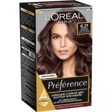 """L'Oreal Paris (Лореаль) Стойкая краска для волос """"Preference"""" (Преферанс), оттенок 6.21, Риволи"""