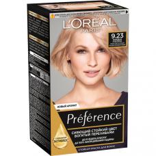 """L'Oreal Paris (Лореаль) Стойкая краска для волос """"Preference"""" (Преферанс) , оттенок 9.23, Розовая Платина"""