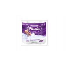 Туалетная бумага  Plushe Classic (Плюше Классик) 4 рулона по 18 м, 2 слоя, белая,