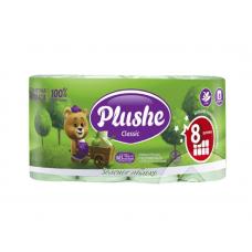"""2916 Туалетная бумага """"Plushe Classic"""" (Плюше Классик) зеленое яблоко 2- слоя 8шт"""