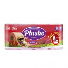 "2914 Туалетная бумага ""Plushe Classic""(Плюше Классик) клубника 2-х слойная  8шт"