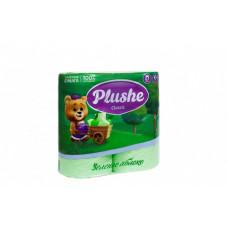 2097 Туалетная бумага  Plushe Classic (Плюше классик)  'Зеленое  яблоко' 4 рулона по 18 м, 2 слоя, зеленая пастель