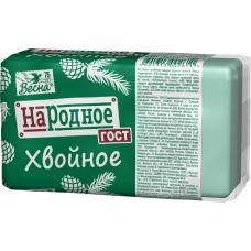 """1700 Мыло""""Хвойное""""140г.в прозрачной упаковке./Весна/"""