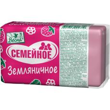 """1106 Мыло""""Земляничное""""140г.в прозрачной упаковке./Весна/"""