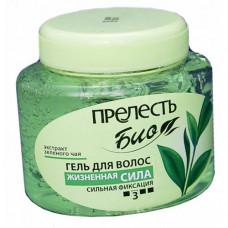 """020827 Гель для укладки волос Прелесть БИО """"Жизненная сила"""" с экстрактом зеленого чая, 250 мл"""
