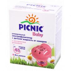 Комплект от комаров Picnic Baby (Пикник Бейби): электрофумигатор + жидкость 45 ночей