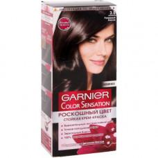 """Garnier (Гарньер) Стойкая крем-краска для волос """"Color Sensation (Колор сенсейшн), Роскошь цвета"""" оттенок 3.0, Роскошный каштан, 100 мл."""
