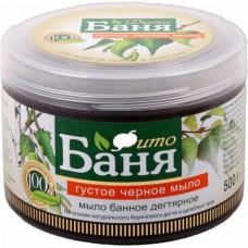"""010748 Густое черное мыло  """"Фито-баня"""" дегтярное 500мл"""