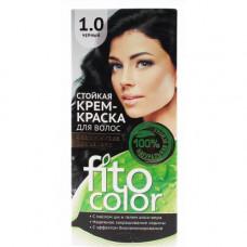 """Стойкая крем-краска для волос серии """"Fitocolor""""/фитоколор/, тон 1.0 черный 115мл/Фитокосметик"""