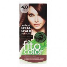 """Стойкая крем-краска для волос серии """"Fitocolor""""/фитоколор/, тон 4.0 каштан 115мл/Фитокосметик"""