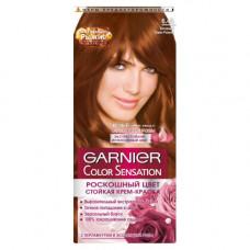 """Garnier (Гарньер) Стойкая крем-краска для волос """"Color Sensation (Колор сенсейшн), Роскошь цвета"""" оттенок 6.45, Янтарный Темно-Рыжий, 110 мл"""