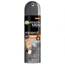 """Garnier (Гарньер) Дезодорант-антиперспирант спрей """"Mineral (Минерал) Защита 6 Очищающая Моринга"""" с минералом Перлит, защита 72 часа, мужской, 150 мл"""